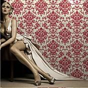 Damasco Fondo de pantalla Para el hogar Clásico Revestimiento de pared , Flocado de Terciopelo Material adhesiva requerida papel pintado,