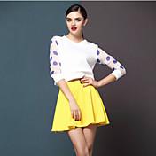 ビビロジャー女子ウェーブポイントロングスリーブドレス(画面の色)