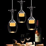 ペンダントライト ,  現代風 クラシック ボウル 田舎風 クロム 特徴 for LED ガラス リビングルーム ベッドルーム ダイニングルーム