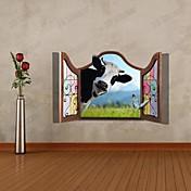 3D牛ウォールステッカー壁飾り