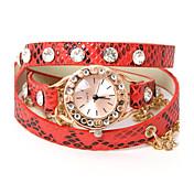 あえてUファッションパンクレザースタイリッシュなチェーンの腕時計
