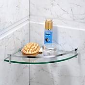 Badezimmer Regal Chrom Wandmontage 21*21*4cm(8.3*8.3*1.5inch) Edelstahl / Glas Modern