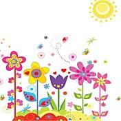 Doudouwo ® Florals Las etiquetas engomadas coloridas de la pared del jardín