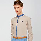 daheilangメンズファッションソリッドカラーのシャツ