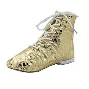 jazz filho / mulher dividir o ouro spot de patentes único botas de couro de dança (mais cores)