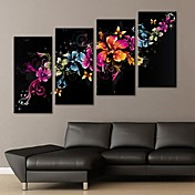 arte de la lona estirada flor magnífica decoración juego de 4