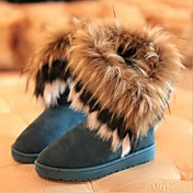 Zapatos de mujer - Tacón Plano - Botas de Nieve - Botas - Casual - Ante - Negro / Azul / Amarillo
