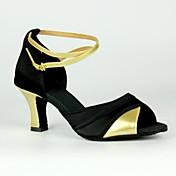 Zapatos de baile (Plata/Oro) - Danza latina/Salsa - Personalizados - Tacón Personalizado
