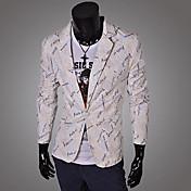 TDLのメンズファッションの因果ロングスリーブレタープリントブレザー