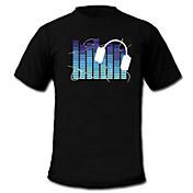 Camisetas LED  Luces LED Activadas Por Sonido Textil Dibujos animados 2 Baterías AAA