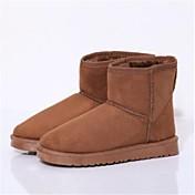 zapatos de las mujeres del dedo del pie redondo botines talón plano más colores disponibles