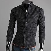 huiziメンズファッションカジュアルスタンドカラーコットンスリムTシャツ