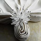 アクリルの花のナプキンリング、アクリル、4.5センチメートル、12のセット