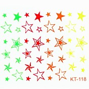 Fluorescence Star False Nail Art Sticker Decals Nail Accessory for Acrylic Nail Tips DIY Nail Art Decorations