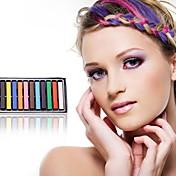 pcs chalk12 tintes de cabello desechables (al azar 12 colores)