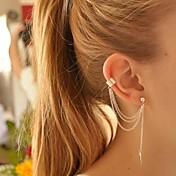 女性用 クリップイヤリング イヤリング 耳の袖口 あり 欧風 ファッション 銀メッキ 合金 リーフ ジュエリー 用途 パーティー 誕生日 日常 カジュアル