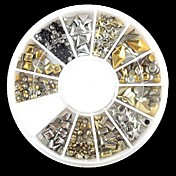 240pcs nail art smíšené nýt tvary akrylové drahokamu (náhodný vzorek)