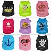 Gato Perro Camiseta Ropa para Perro Caricatura Arco iris