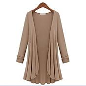 WeiMeiJia® Women's XXXXL Plus Size Loose The Big Pendulum Long Sleeve Outerwear