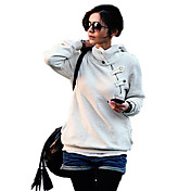 KissTies Fashion Solid Color Hoodie Coat