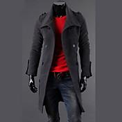 fanzhuo男性用のダブルブレストウールファッションコート1411A / A160