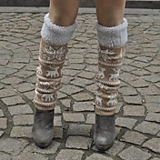 Lyže Leg Warmers / Ponožky Dámské Zahřívací Snowboard Tahtaları Khaki Květiny Volnočasové sporty Zima