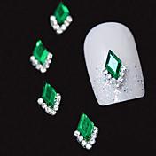 10ks zelená markýza 3d drahokamu kutilství příslušenství slitiny nail art dekorace