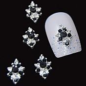10pcs 3d crna bižuterija dijamant cvijet DIY pribor legure nail art ukras