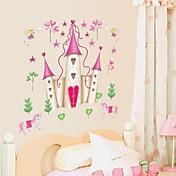 samolepky na zeď na stěnu, karikatura Disney princezna hrad pvc samolepky na zeď