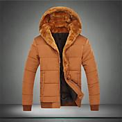 堀田メンズ長袖スリムファッションのパーカーは、オーバーコートを厚くcausual