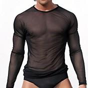 男性のセクシーな透明なガーゼ長袖の服
