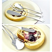 朝食のための3ピースへら、ジャムスプーンとフルーツフォーク食器セット