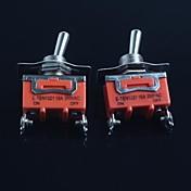 トグルスイッチ(フィート第二ギア)15aは250VAC(2個)