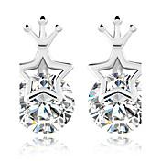 Dámské Peckové náušnice Kubický zirkon Módní Euramerican Slitina Star Shape Crown Shape Šperky Pro Denní