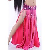 Danza del Vientre Faldas Mujer Representación Satén elástico (tacto seda) Cintura Media