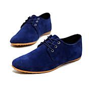 Hombre Zapatos Ante Sintético Primavera Verano Otoño Confort Oxfords Con Cordón Para Casual Azul marino Negro Marrón