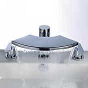 浴槽水栓 ツーハンドル 台付