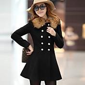 ウェブの女性のヨーロッパのファッションエレガント安いコート