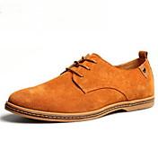 Hombre Zapatos Ante Primavera Verano Otoño Invierno Confort Oxfords Con Cordón Para Casual Azul marino Negro Marrón Verde Caqui