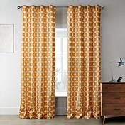 Dos Paneles Ventana Tratamiento De Diseño Dormitorio Poliéster Material Decoración hogareña For Ventana