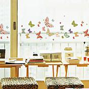 """50 * 23.5cm(20""""W * 9""""L)Printed butterfly flowers - Window Sticker"""