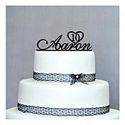 ケーキトッパー あり 結婚式 / 記念日 / 誕生日 ブラック クラシックテーマ PVCバッグ