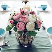 """9.1 """"h diez cabezas artísticas rosas de té del mismo color 2 manojos"""