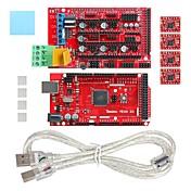 geeetech mega impressora 3D 2560 + rampa 1.4 estender escudo + passo a4988 conjunto de drivers