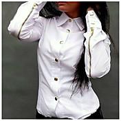 europeo camisa de manga larga de la moda coreana de tocar fondo de aigowomen