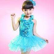 我々は子供たちのダンスウェアラテンダンスの子供たちは、ヘッドピースの衣装をドレスしない
