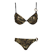 Bikinis/Dos Piezas ( Oro oscuro ) - Impermeable/Transpirable/Materiales Ligeros - para Mujer