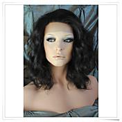 8インチ·22インチは、100%のインドレミー人間の髪の毛本体波のレースのかつらlwbw005