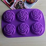 bakeware silikon porasla za pečenje kalupe za čokoladni kolač mliječi (slučajne boje)