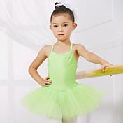 Ballet Leotardos Niños Entrenamiento Representación Espándex Tul 1 Pieza Sin mangas Princesa Vestido